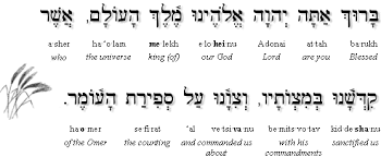 Chart For Counting The Omer Sefirat Haomer Counting The Omer