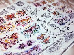 Animal <b>Watercolor</b> Temporary Tattoos Sheet <b>Lion</b> Wolf <b>Fox</b> Tiger | Etsy