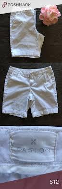 White Caslon Addison Bermuda Shorts Size Tag Was Removed