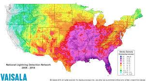 lightning risk map  east coast lightning equipment