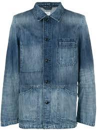 Light Blue Fitted Denim Jacket Closed Light Wash Fitted Denim Jacket Farfetch