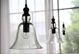antique vintage style glass shade ceiling light pendant lamp fixture american modern loft crystal bell pendant light retro chandelier lights pendant light