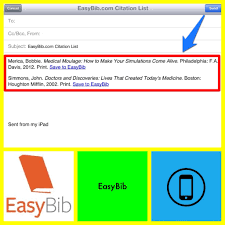 Email Citations To Yourself Using Easybib Research At Kvcc