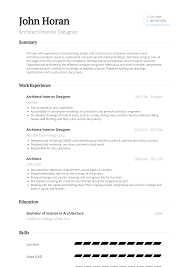 Interior Designer Resume Samples Templates Visualcv Sample Cv