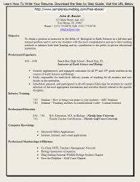 Teacher Resume Formats How To Write A With Experience Teaching Job