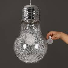 big bulb pendant light modern creative restaurant bar glass pendant light aisle corridor lamp dia 15cm 22cm 30cm in pendant lights from lights lighting on
