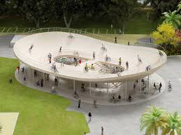 What is a pavilion Swoosh Pavilion Designboom Nl Architects Bicycle Club