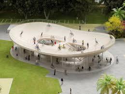 What is a pavilion Swoosh Pavilion Designboom Nl Architects Bicycle Club