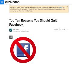 should you delete your business facebook page gizmodo 10 reasons