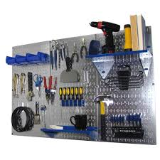 wall control 32 in x 48 in metal pegboard standard tool storage kit with