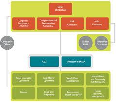 Corporate Organizational Chart Semirara Mining And Power Corporation