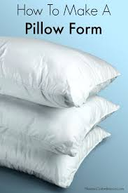 How To Make A Cover For A Pillow Form