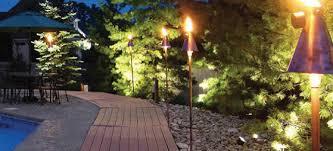 Bali Gulf Automated Gas Tiki Torch  Tiki Torch Lights Garden Backyard Torch