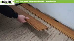 How to install bamboo flooring Glue Youtube How To Install Uniclic Bamboo Flooring over Underlay Youtube