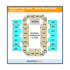 James Brown Seating Chart James Brown Arena Events And Concerts In Augusta James