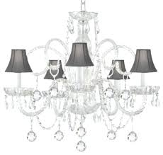 well known crystal chandeliers with shades with regard to crystal chandelier with black shade as well