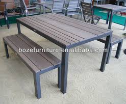 garden dining table with benches. aluminum picnic bench, plastic wood dining table and chair, garden set with benches t