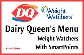 Dairy Queen Menu Calories Chart Pin On Points