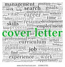 Cover Letter Concept Word Tag Cloud Stock Illustration 109863785