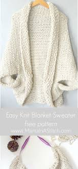 Free Easy Knitting Patterns Adorable Cocoon Shrug Knitting Pattern Free Tutorial Super Easy Knitting