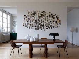 go with free form photo collages for eclectic wall decorations