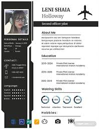 Free Pilot Cv Template Word Psd Indesign Apple Pages