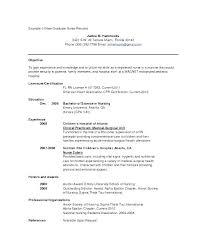 Sample Nursing Resume New Grad New Nurse Resume Template New Grad ...