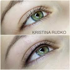 татуаж глаз стрелки классические и с растушевкой татуаж глаз