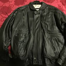 classic full black leather jacket