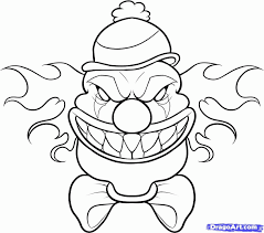 Small Picture Scary Clown Printable Coloring Pages Coloring Home