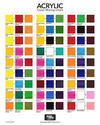 Artist Color Mixing Chart Acrylic Color Mixing Chart