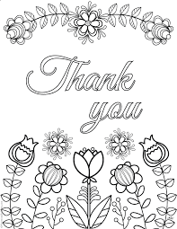 Thank You Coloring Pages Express Gratitude In A Creative Original Way
