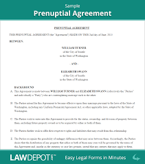 prenup samples prenuptial agreements examples rome fontanacountryinn com