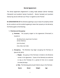 The rental agreement or rental contract is drafted on a stamp paper. Basic Rental Agreement Free Sample Docsketch