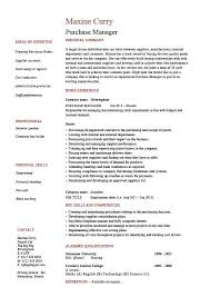 Purchase Manager Resume Job Description Samples Examples