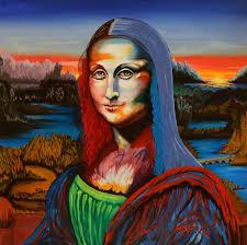 saatchi art artist alejandro guevara painting a desperate scream contemplating the mona lisa