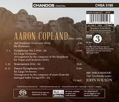 copland orchestral works copland orchestral works vol 3 symphonies an outdoor overture