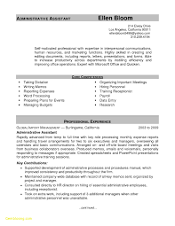 New Resume Examples Resume Template Executive New Executive Administrative assistant 97