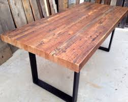 industrial reclaimed wood furniture. Custom Outdoor Indoor Exposed Edge Rustic Industrial Reclaimed Wood Dining Table CoffeeTableMade Furniture A