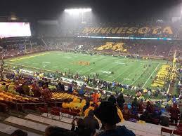 Tcf Bank Stadium Section 226 Row 25 Seat 15 Minnesota