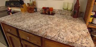 same countertop after finishing with faux granite paint