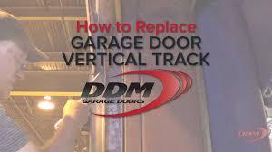 ddm garage doorsHow to Replace Vertical Garage Door Track  YouTube