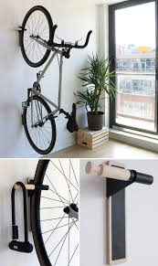 Wall bicycle mount Apartment This Sturdy Black And Wood Wall Mounted Rack Provides Space For Your Bike And Your Lock Amazoncom Put Your Bike On Display With These Wall Mounted Bike Racks