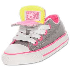 converse shoes for girls pink. baby girls shoes converse chuck taylor double tongue ox toddler sizes grey/ pink for r