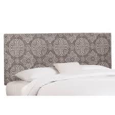 Skyline Bedroom Furniture Skyline Furniture Nail Button Linen Upholstered Panel Headboard