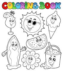 coloring book vector set 01