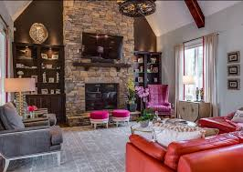 living room stone fireplace decor better decorating blog accent wall