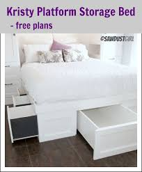 high platform beds with storage. Kristy Platform Storage Bed \u2013 Free Plan High Beds With S