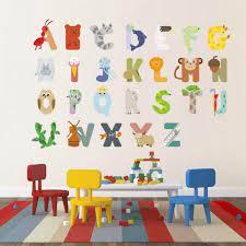 animal alphabet vinyl wall decals