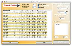 schedule creater sports schedule maker schedule creator software for sports